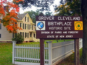 Cleveland Birthplace in Caldwell Borough.JPG