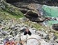 Climber at Bosigran - geograph.org.uk - 186326.jpg