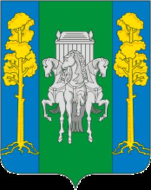 Bolshesosnovsky District - Image: Coat of Arms of Bolshesosnovsky rayon (Perm krai) 2