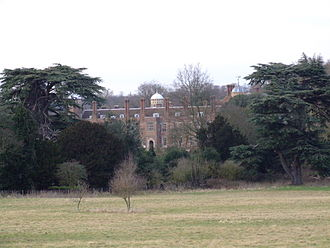 Cobham Hall - The garden front in 2009