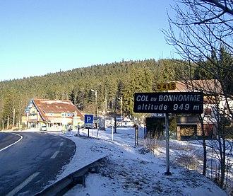 Col du Bonhomme - The Col du Bonhomme in winter (January 2009)