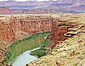 Colorado River through Marble Canyon, Navajo Bridge, AZ 9-15b (21627336980).jpg