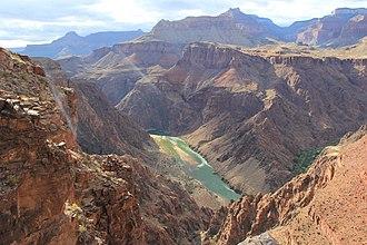 South Kaibab Trail - Colorado River view from South Kaibab Trail