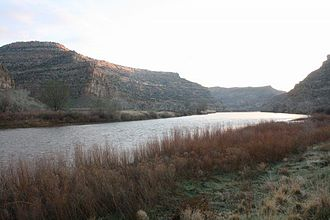 Mountain states - The Colorado River, near Grand Junction.