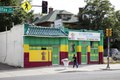 "Colorful Ethiopian restaurant, called the ""Ethiopian Restaurant,"" in Denver, Colorado LCCN2015633619.tif"