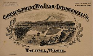 Tacoma, Washington - The Commencement Bay Land and Improvement Co. played a major role in the city's early growth.