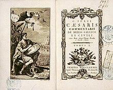 Commentarii de Bello Gallico et Civili. Gemeinsame Ausgabe Caesars wichtigster Schriften von 1783. (Quelle: Wikimedia)