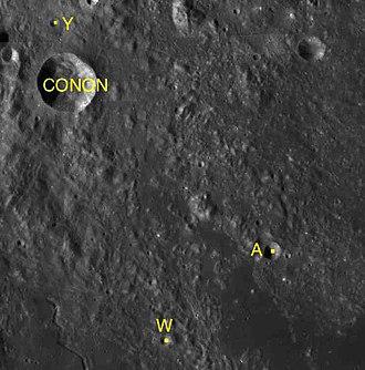 Conon (crater) - Satellite craters of Conon