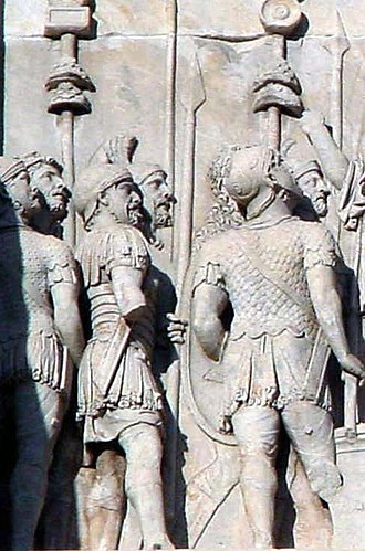 Signifer - Relief in the Arch of Constantine depicting several signiferes