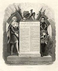 Déclaration des Droits et des Devoirs de l'Homme et du Citoyen, en 1795, ©wikicommons
