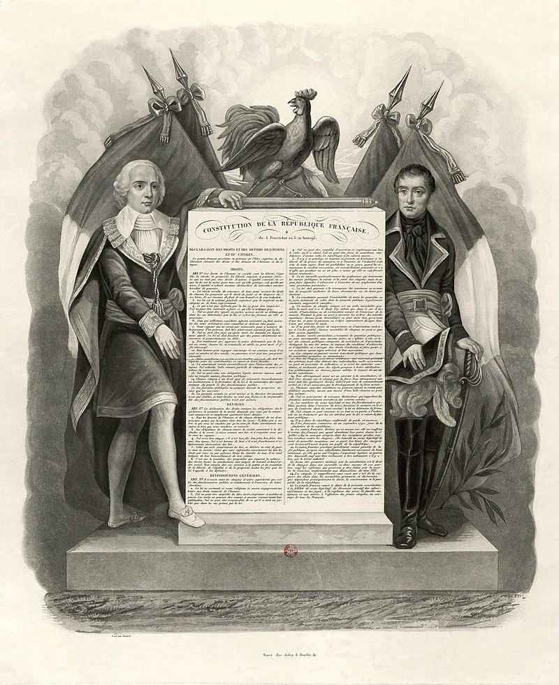 Constitution de la République Française du 5 fructidor an 3 (22 août 1795). Déclaration des Droits et des Devoirs de l'Homme et du Citoyen.jpg