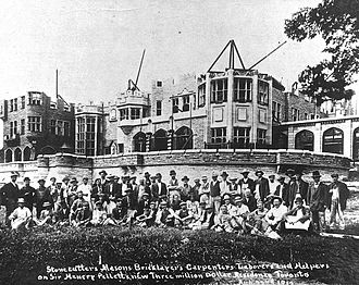 Casa Loma - Construction of Casa Loma, c. 1912