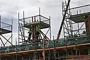 A construction crew