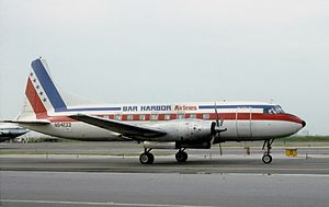 Bar Harbor Airlines - Bar Harbor Airlines Convair 600 at La Guardia Airport (July 1984)