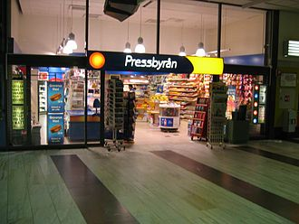Pressbyrån - Pressbyrån store located in Stockholm Central Station