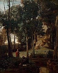 Democritus and the Abderitans, landscape