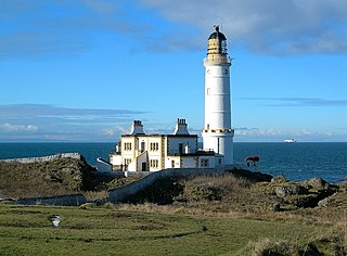 Corsewall Lighthouse lighthouse at Corsewall Point, Kirkcolm near Stranraer in the region of Dumfries and Galloway in Scotland