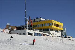 Corviglia Location on the mountain Piz Nair in Switzerland
