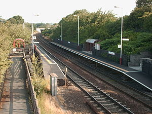 Cottingley railway station - The view from the foot bridge