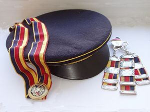 Couleur - Ribbon, cap and Zipfel of an Austrian Studentenverbindung
