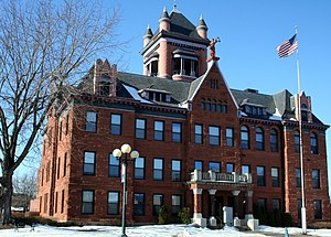 National Register of Historic Places listings in Monroe County, Wisconsin - Image: Courthouse Monroe County WI