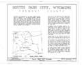 Cover Sheet - South Pass City, General View, South Pass City, Fremont County, WY HABS WYO,7-SOPAC,1- (sheet 1 of 3).png