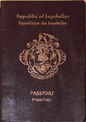 Seychellois passport - The front cover of a Seychellois passport