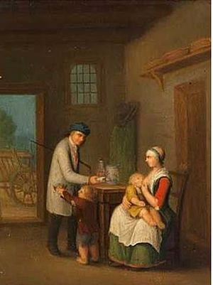 Peter Cramer - Family Interior with Breastfeeding Mother