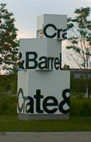 Crate & Barrel - Image: Crate&Barrel Sign