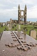 Craved cross, Elgin Cathedral, Scotland.jpg