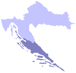 Situo de Dalmatio enkadre de Kroatio