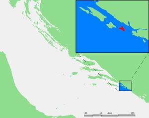 Koločep - Image: Croatia Elafit Islands Kolocep