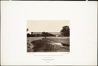 Republican River - Image: Crossing of the Republican, in Kansas, 136 miles west of Missouri River. (Boston Public Library)