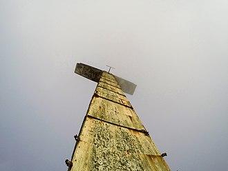 Chimbote - Cross at the top of Cerro de la Juventud (Mountain of Youth) aka Cerro de la Paz (Mountain of Peace)