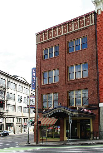 Elliott Smith - The Crystal Ballroom music venue in Portland, Oregon. One of Smith's performances here in December 2001 drew concern from a reviewer.