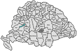 Location of Csanád