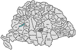 Csanád County - Image: Csanad
