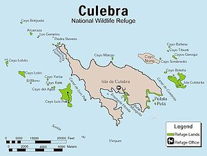Map of the Culebra National Wildlife Refuge