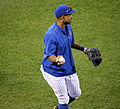 Curtis Granderson works out before -WorldSeries Game 5 (22757321562).jpg
