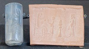 Anahita - The figure of a female on an Achaemenid cylinder seal