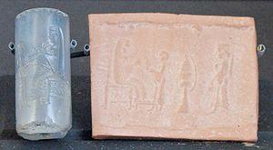 Anahita - The figure of a female on an Achaemenid cylinder seal