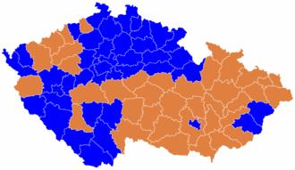 Czech legislative election, 2006 - Image: Czech parliament elections 2006 districts winners map