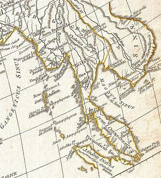 Magnus Sinus - Image: D Anville Cattigara 1794