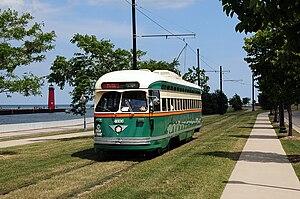 Streetcars in Kenosha, Wisconsin - A PCC streetcar touring HarborPark