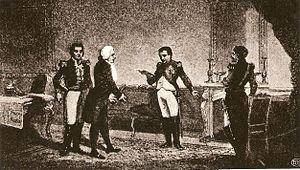 Józef Wybicki - Gen. Jan Henryk Dąbrowski and Józef Wybicki meet Emperor Napoleon in Berlin in 1806