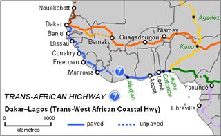 Trans–West African Coastal Highway road