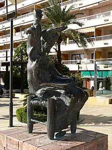 Don Quijote sentado, por Salvador Dalí.