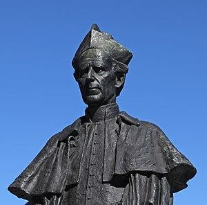 Daniel Mannix - Statue of Mannix outside St Patrick's Cathedral, Melbourne