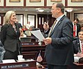 Daniel Raulerson and Heather Fitzenhagen jointly promote a bill.jpg