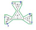 Darstellung der Tuckerman-Traverse eines Hexahexaflexagons im Tuckerman-Diagramm.png